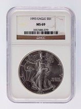 1993 Silver 1oz American Eagle $1 NGC Graded MS 69 - $163.34