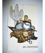 LBJ CREATIONS PIN~WESTERN MOTIF~ GOLD & SILVER TONES Free shipping - $27.50
