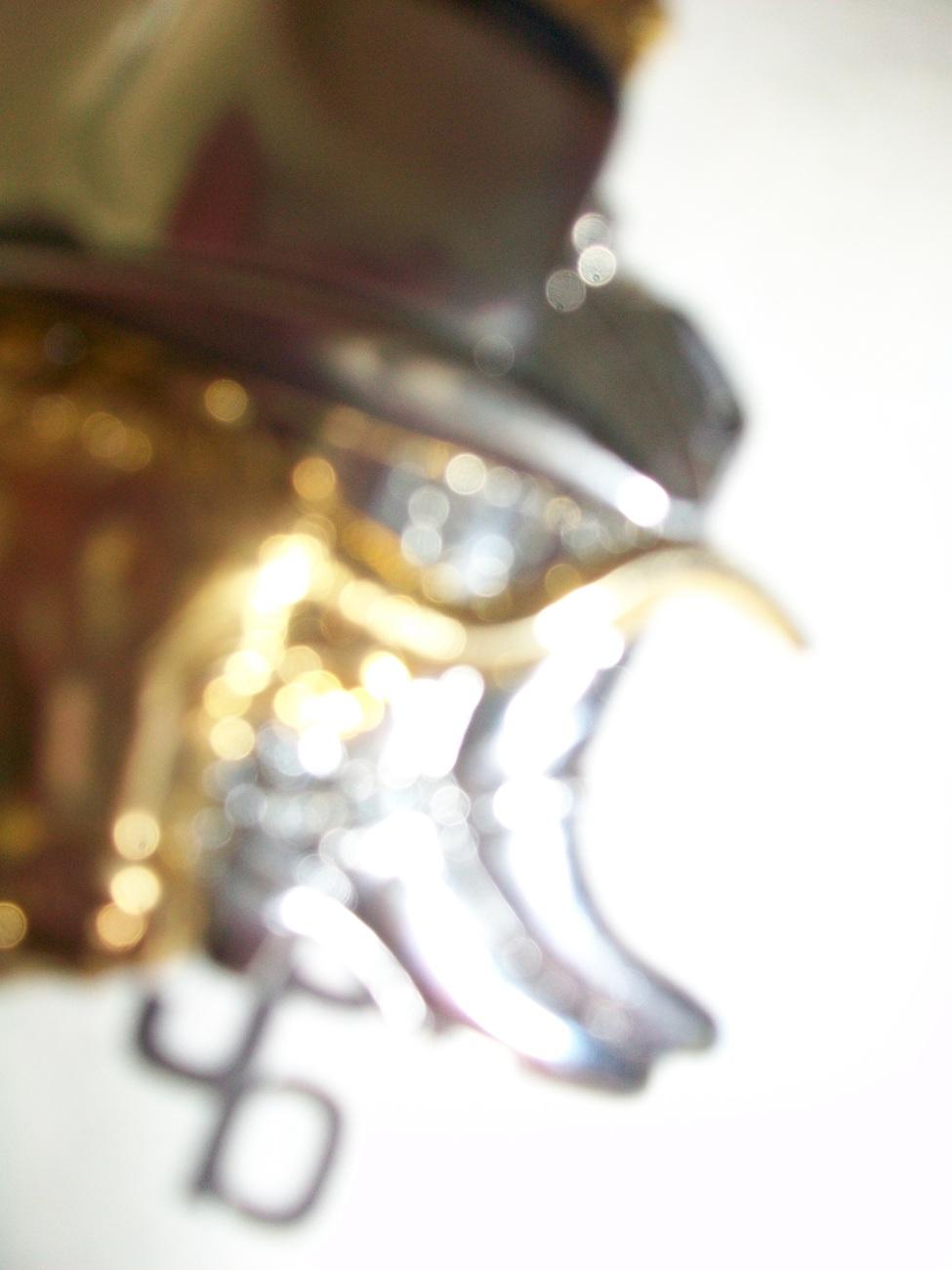 LBJ CREATIONS PIN~WESTERN MOTIF~ GOLD & SILVER TONES Free shipping
