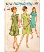 Vintage Simplicity 6914 Dress Sz 16 - $25.00