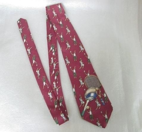Tennis Neck Tie Necktie Silk USA Rooster Rogue