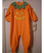 Osh Kosh Pumpkin Coverall Sleeper Costume  3 - ... - $5.99