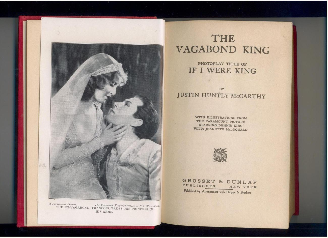 McCarthy--IF I WERE KING--1930--photoplay ed.--illustrated