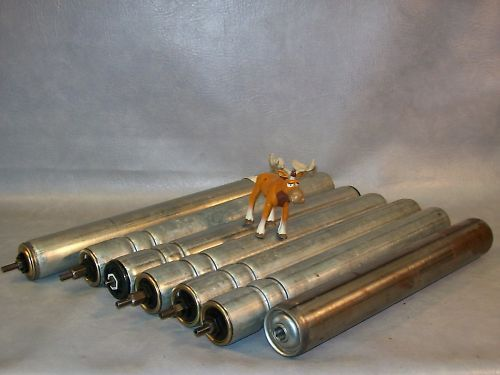 Grooved & Smooth Conveyor Rollers Lot of 7