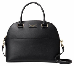 New Kate Spade Grove Street Carli Black Leather Satchel Handbag Purse MS... - $232.52 CAD