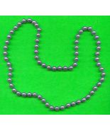 Old Gray Bead Necklace - $5.00