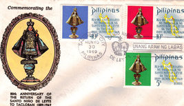 The Return of The SANTO NIñO DE LEYTE Philippine First Day Cover - $2.95