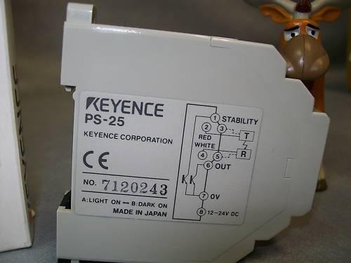 KEYENCE PS-25  PHOTOELECTRIC SENSOR  SWITCH 12/24V DC