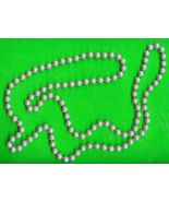 Old Greyish Pearl Bead Necklace - $5.00