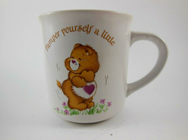 Vintage Heart Care Bear Mug Cup American Greetings 1983 Pamper Yourself a Little - $11.87