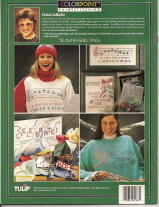 Colorpoint Paintstitching 91287  Seasons Greetings Transfer