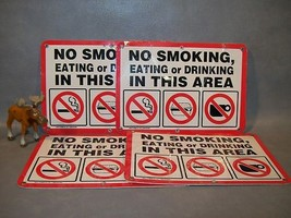 NO SMOKING, EATING OR DRINKING  Lot of 4 Emedco Signs - $55.17