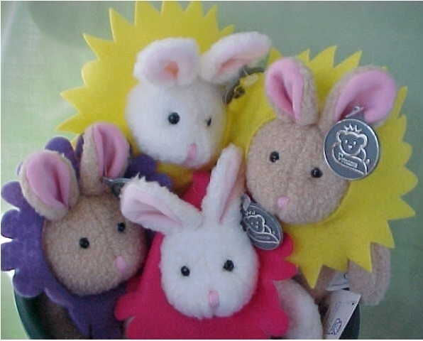 Primary image for 4 Blooming Bunnies (potted) Princess Soft Toys