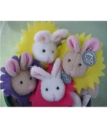 4 Blooming Bunnies (potted) Princess Soft Toys - $20.00