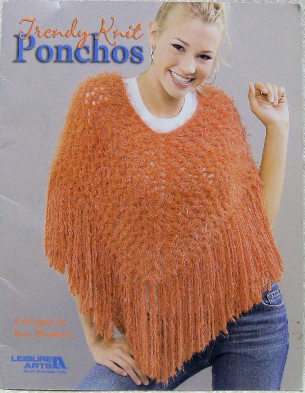 Trendy Knit Ponchos-Leisure Arts-4 great designs!