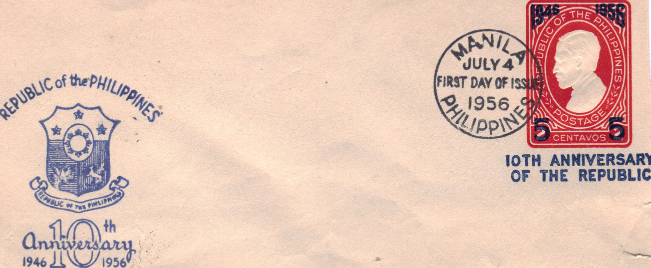 Republic of The Philippines 10th Anniversary 1946 - 1956 First Day Cover