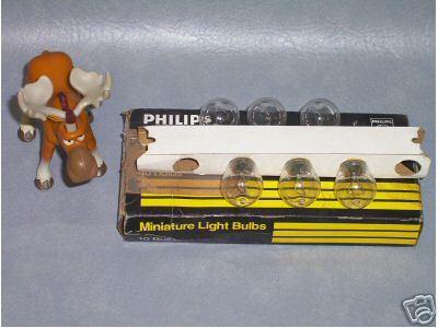 Philips Miniature Bulbs 1073  Lot of 6   __________C100