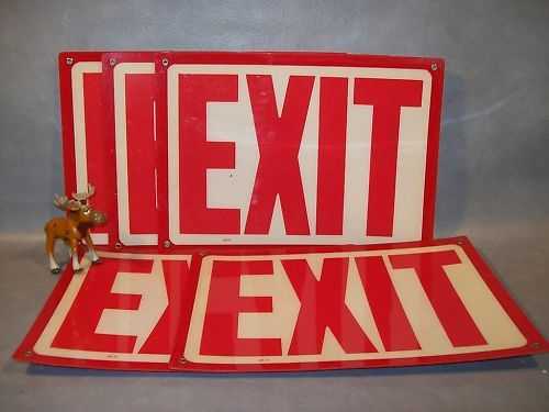 "Plastic SP 71  EXIT Sign 10"" H x 14"" L Lot of 5"