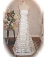 Vera Wang Ivory Silk Organza Ribbon Tiered Wedd... - $2,499.99