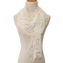 Beige Lace Wrap, Beige Lace Shawl, Lightweight Layers, Lace Shawl