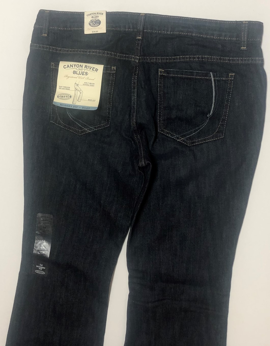 Canyon River Blues Jeans Boot Cut Low Waist Sz 14 Average Stretch image 6