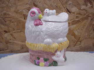 Hen with Peeps Cookie Jar