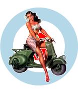 Mod Scooter Girl Target Window sticker scooters Vespa Lambretta mods 15cm - $5.75