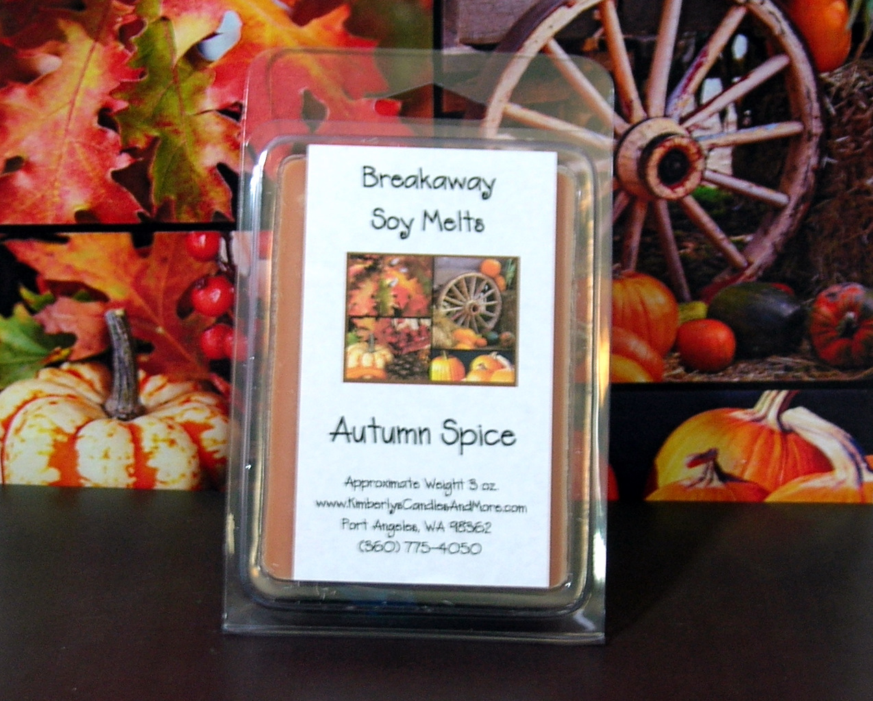 Autumn Spice  Breakaway Clamshell Soy Wax Tart Melts