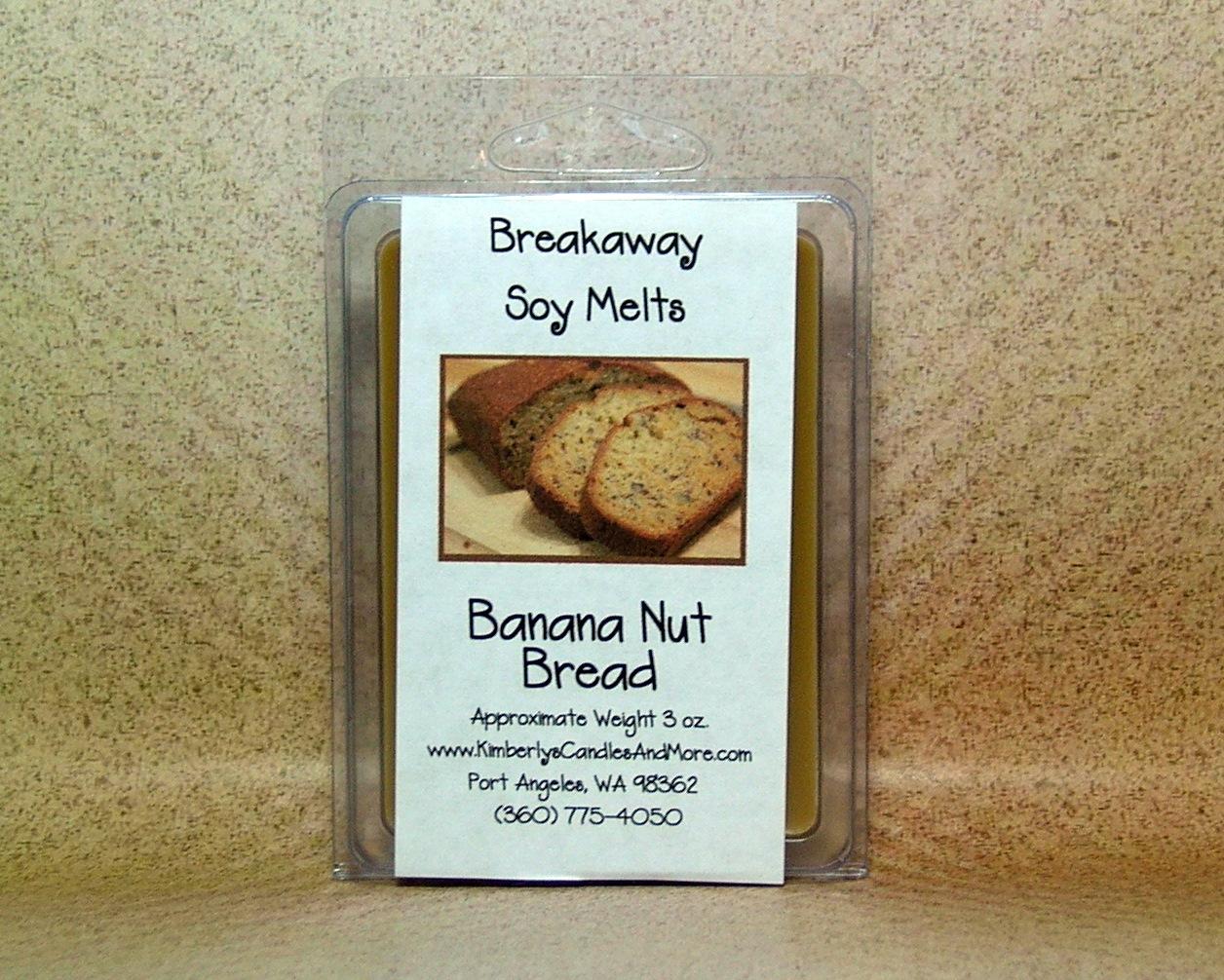 Banana Nut Bread Breakaway Clamshell Soy Wax Tart Melts