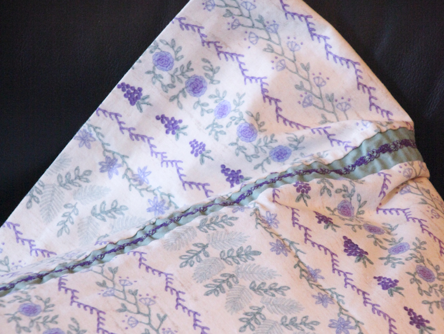 Embellished Single Queen Pillow Case - Grapes (Purple & Green)