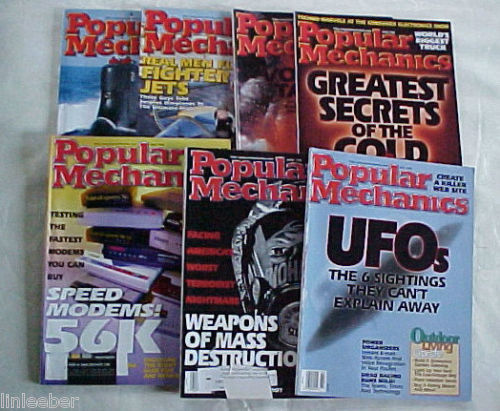 7)POPULAR MECHANICS MAGAZINES-1998 SCIENCE,TECHNOLOGY,AUTOMOTIVE,HOME,OUTDOORS