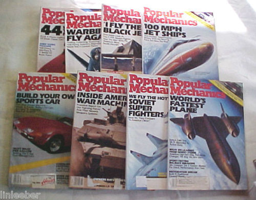 8)POPULAR MECHANICS MAGAZINES-1990-91 SCIENCE,TECHNOLOGY,AUTOMOTIVE,HOME,OUTDOOR