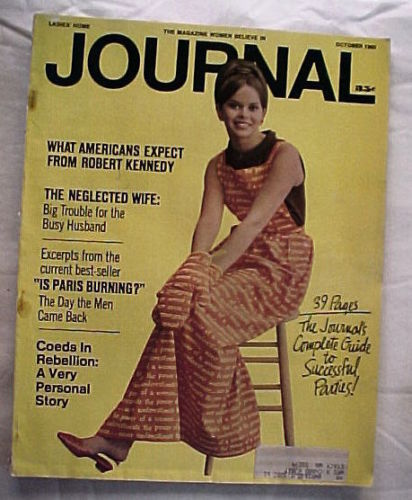 LADIES HOME JOURNAL-OCTOBER 1965-RFK;NEGLECTED WIFE;COEDS IN REBELLION;PARTIES