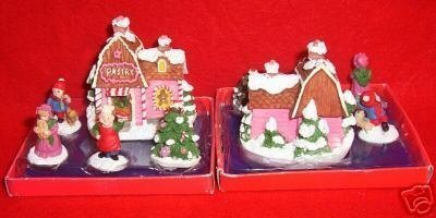 MINIATURE PASTRY STORE w/ PEOPLE & TREE ~VERY CUTE~