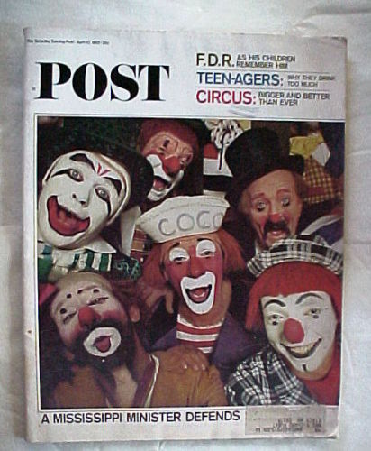 SATURDAY EVENING POST APRIL 10,1965-F.D.R.;TEEN-AGE DRINKING;CIRCUS;SEGREGATION