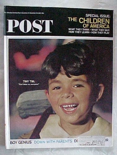 SATURDAY EVENING POST DEC.19-DEC.26,1964-CHILDREN OF AMERICA;SANTA CLAUS/COKE AD