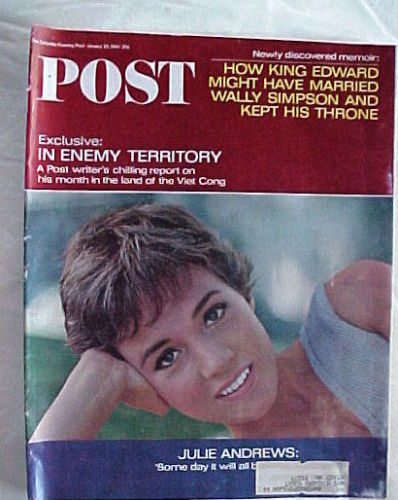 SATURDAY EVENING POST JAN 29,1966-JULIE ANDREWS;KING EDWARD & SIMPSON ;VIET CONG
