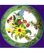 Rare Golz Rush Butterfly Needlepoint Kit Wildflower Bouquet - $59.99