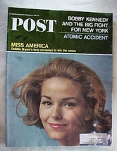 Saturday Evening Post Nov.6,1965 Miss America;Atomic Accident;Rfk&Fight For N.Y. - $9.99
