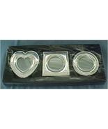 Set of 3 Mini Frames, Silverplate, Gorham/Lenox - $20.00