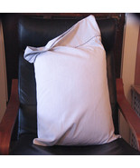 Embellished Queen Pillow Case Set - Gray Pinstripes (White & Gray)  - $18.00