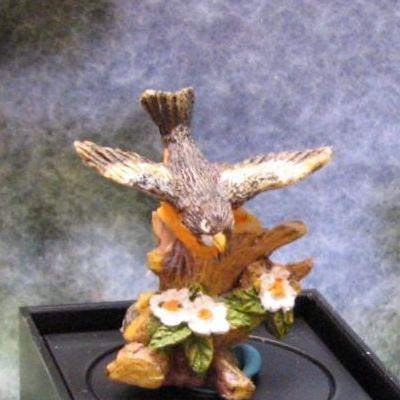 Dollhouse Robin Figurine Dale Jeannetta Kendall wings out jc01 Bird Miniature