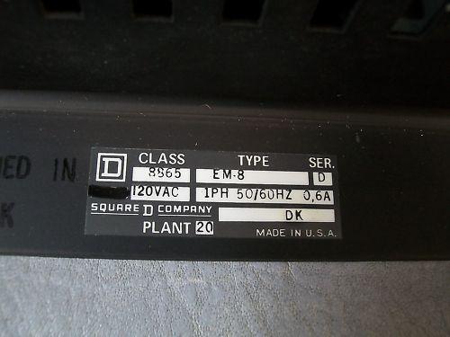 Square D 8865 Watchdog Management System Type EM-8