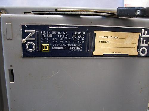 Square D QMB-363-T32 Panel Board