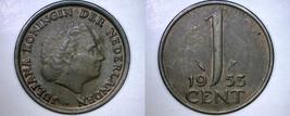 1953 Netherlands 1 Cent World Coin - $3.99
