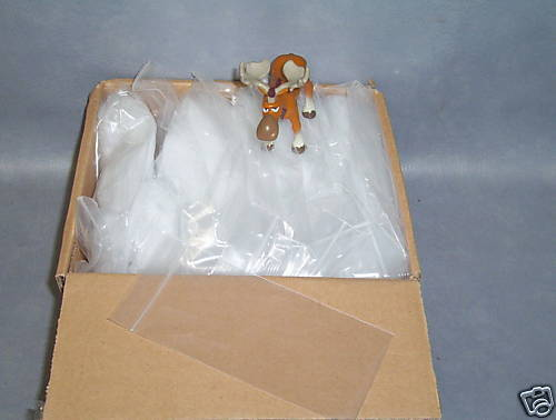 "Uline Zipper Reclosable Bags  3"" X 6"" 2 mil Box of 1000"