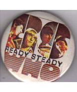"READY STEADY WHO 1-1/2"" Pinback  Button, RARE - $8.95"