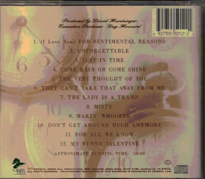 CD For Sentimental Reasons Classical Music