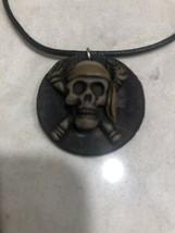 Pirate Skull Crossbones Style Pirates Handmade Pendant Necklace S42 - $9.99