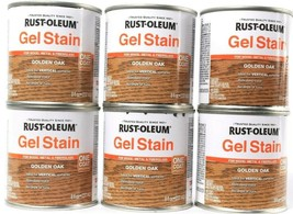 6  Rust-Oleum Gel Stain 344615 Golden Oak Covers Wood Metal Fiberglass H... - $21.99